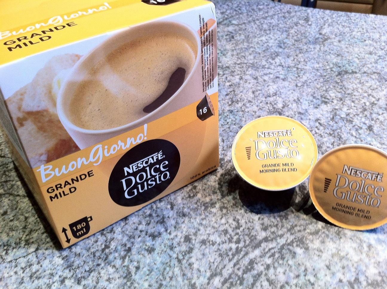32 kapseln grande mild leckerer crema kaffee f r die. Black Bedroom Furniture Sets. Home Design Ideas