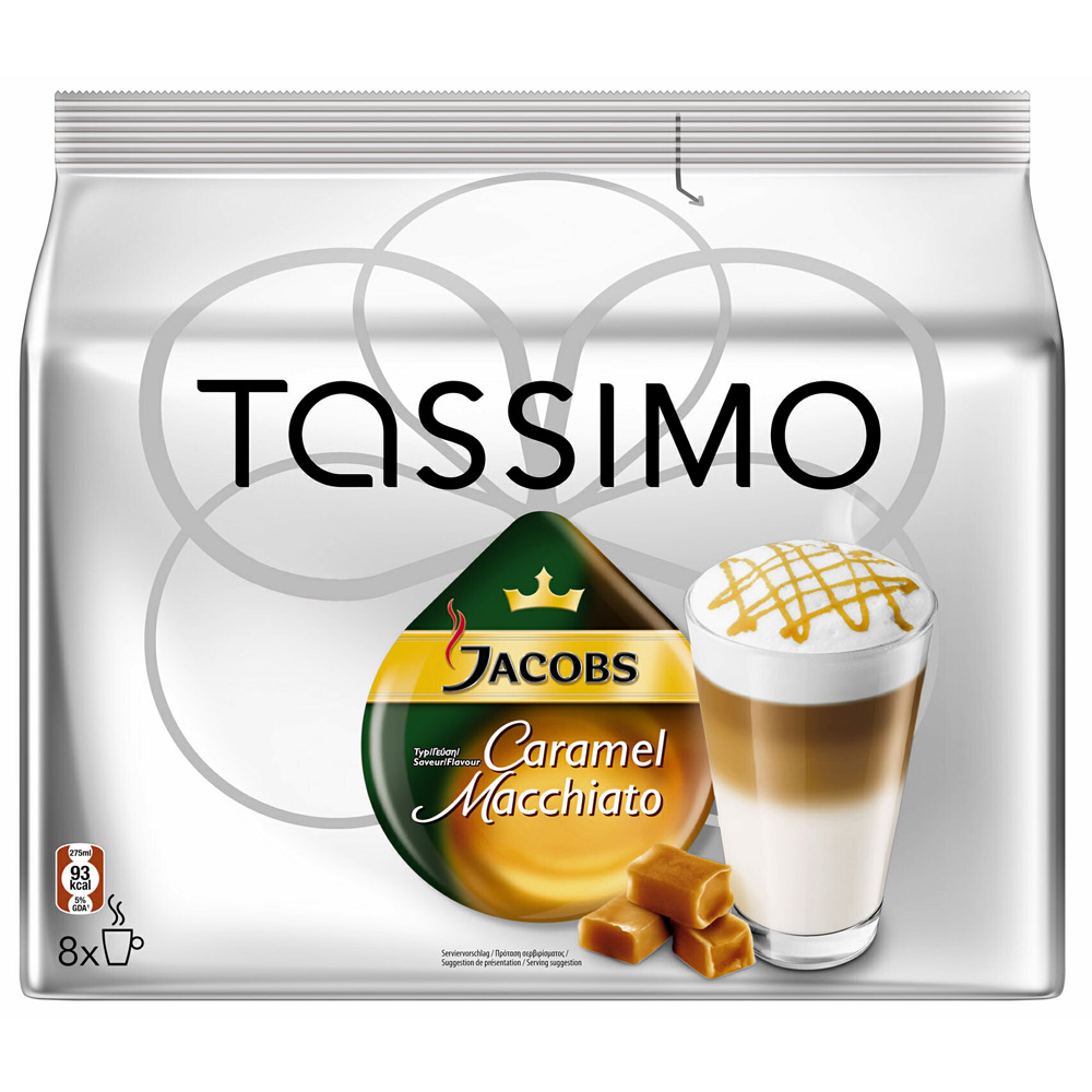 1x jacobs caramel latte macchiato f r tassimo kapseln t. Black Bedroom Furniture Sets. Home Design Ideas